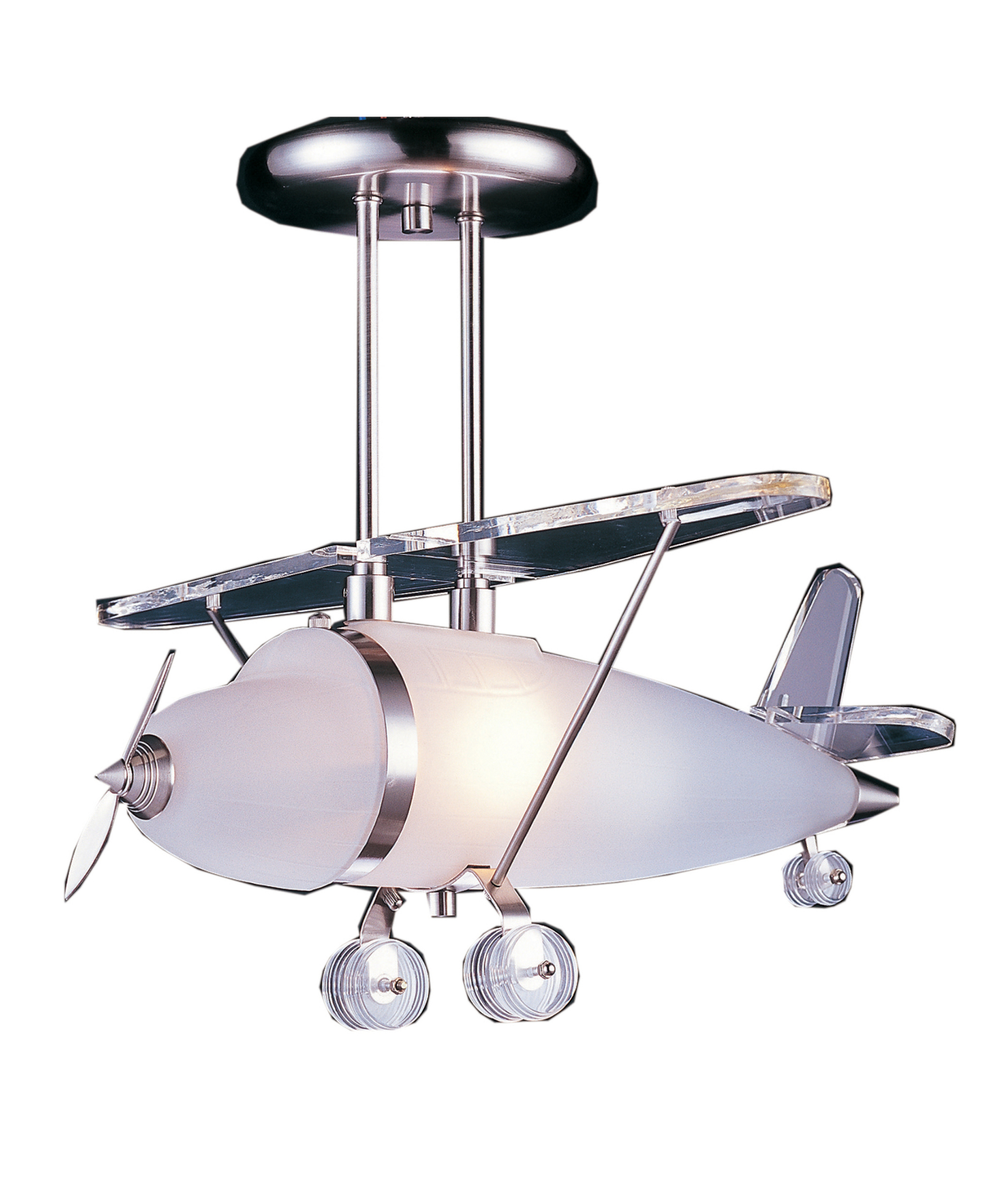 Airplane Theme Pendant Lamp With Stainless Steel Frame