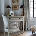astonishing french country style with wonderful rattan chair also interesting flower wide curtains with elegant framed picture in large carpet concept