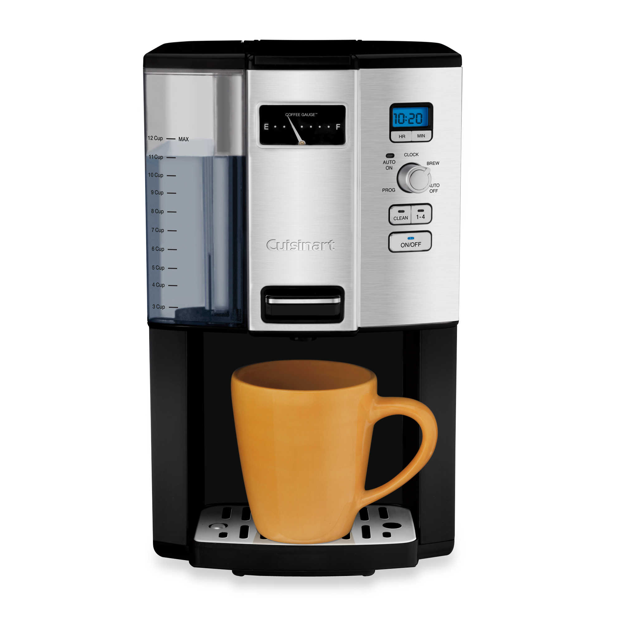 automatic coffee maker machine with a direct water line feature timer feature heat scale feature adjusting buttons feature power button feature Where Do You Put The Water In A Coffee Maker