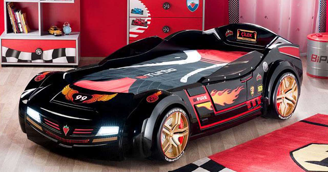 black car bed for toddlers black race car bed for toddlers black car bed for kids black race car bed for kids artistic race car bed artistic racing car bed bedroom interior with racing theme race-theme shelves race-theme shelving units race-theme