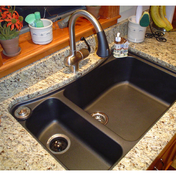 kitchen sinks for granite countertops what is best kitchen sink material homesfeed 8588