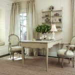 elegant cream french country interior with timeless dining set furniture also frech greem potted plan and elegant wall mount shelving system in large carpeting idea