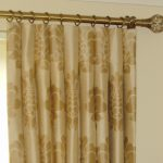 flower patterns pleat curtains golden stick hook