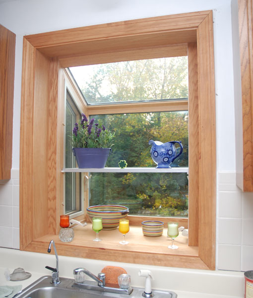 Kitchen Window Plant Shelf: Garden Windows For Kitchen, Refreshing Part In The Kitchen