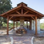 hardwood-framed pavilion outdoor sets of wood bench with long table