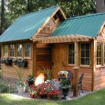 Homey Shed With Mini Park A Pair Of Patio Furniture