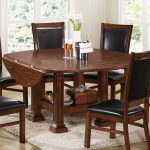 large drop leaf dining table luxurious dining chairs with black leather in seating and back white fury carpet