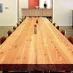 Large Hardwood Desk Top With Hardwood Made Chairs