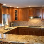 luxurious look granite counter for kitchen stainless steel faucet and sink casual and simple kitchen cabinet system