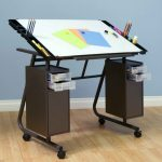 movable drawing table with storage