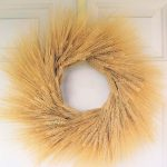 ornamental dried-wheat wreath