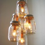 pendant lamp made from mason jar