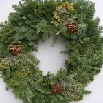 pine-leaves wreath for Christmas decoration