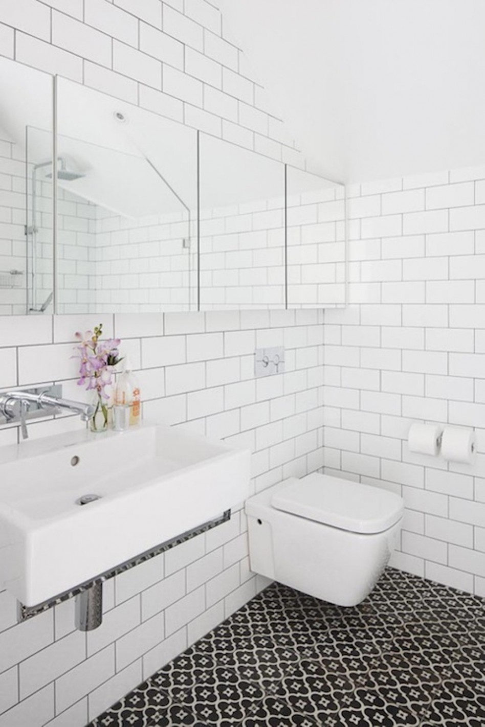 white tiled bathroom subway tile sizes for areas homesfeed 15160