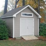 Simple Shed With Wood Plaque Walls