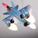 sophisticated airplane lighting fixture in light blue color