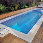 sophisticated outdoor pool luxurious wood floors idea sets of white sofa beautiful mini garden  wood box for pool's equipment