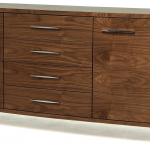 stainless steel-legs sideboard made from hardwood with great natural lines