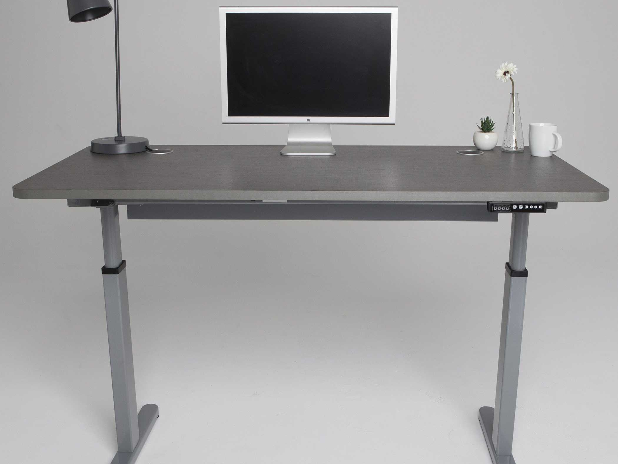 standing desk in grey simple grey standing desk minimalist grey standing desk grey-theme standing desk grey standing desk office grey standing desk for office grey standing desk for home office beautiful table lamp standing desk with white decora