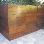 toples laminate wood box for equipment pool