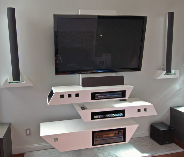 Unique Tv Console Create Such Fun Experience Of Watching
