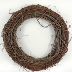 unique dried- roots wreath for outdoor wall