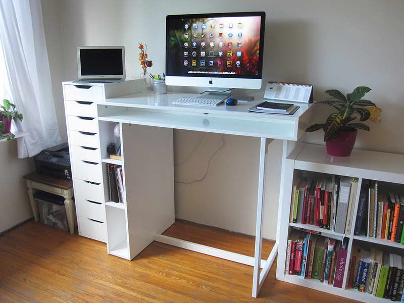 white idea standing desk white standing desk idea white standing desk design standing desk with file cabinets pure white standing desk Ikea pure white standing desk from Ikea white-theme standing desk Ikea white-theme standing desk with PC set st