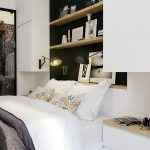 wonderful white bedroom with cute scone lighting also ravishing black beadboard with artistic transparent glass sliding