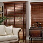wood window blinds classic  console cozy sofa