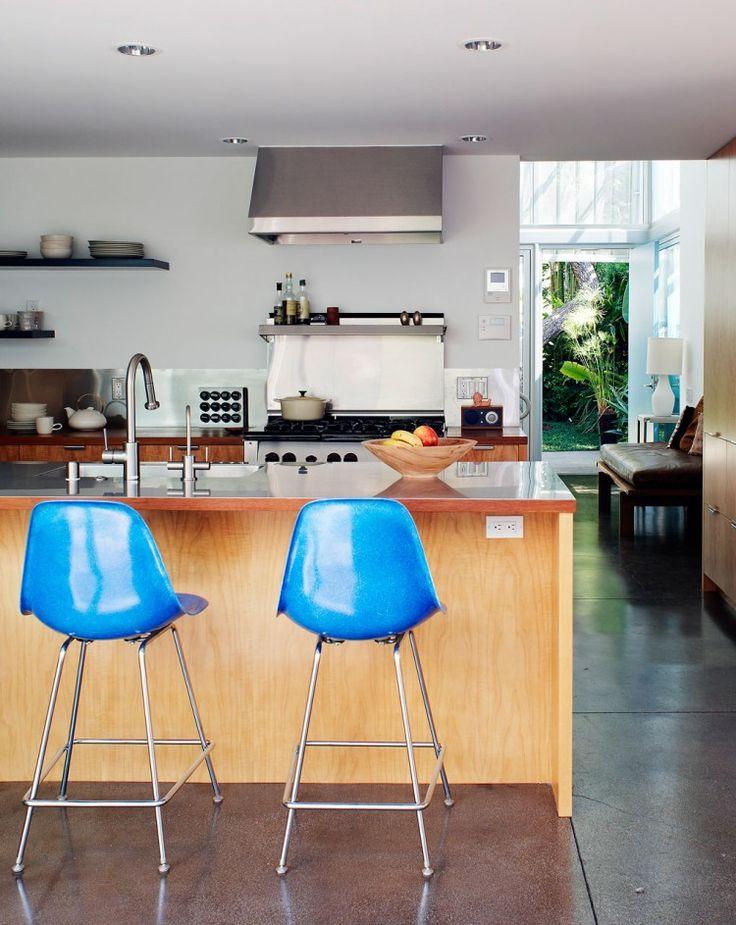turquoise bar stools brighten your kitchen bar  homesfeed