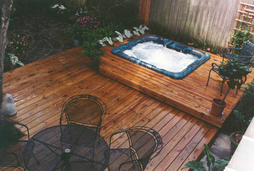 Decks With Hot Tubs The Outstanding Home Deck Design
