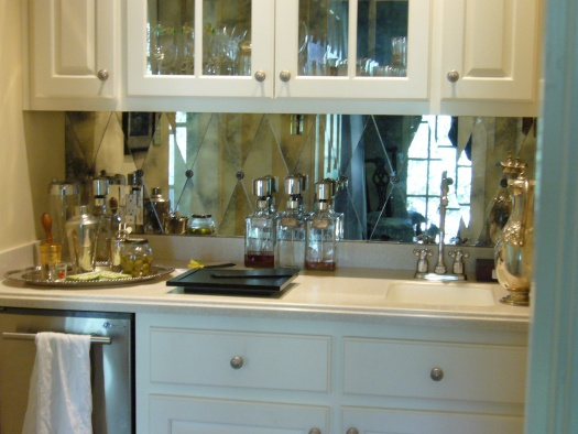 nice white kitchen cabinets modern and cool mirror backsplash for modern kitchen 23783