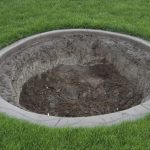 adorable cool wonderful nice adorable fantastic in-ground-fire-pit with large hole concept with concrete concept for garden