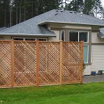 Adorable Nice Awesome Cool Wonderful Nice Lattice Fence Design With Diagonal Lattice Privacy Screen Made Of Bamboo Cane Work Design