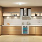 Adorable Nice Wonderful Cool Amazing Modern Kitchen Cabinet With Wooden Made Design Concept And Has Built In Stove Concept