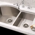 adorable nice wonderful cool fantastic best kitchen sink with white coutnertop design concept and has single faucet with double box