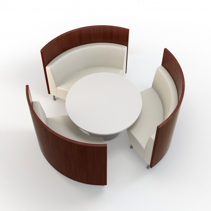 Wonderful Design of Curved Banquette Seating for Living ...