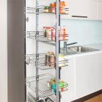 amazing cool modern nice wonderful coolattractive pull out pantry with metal frame design concept for modern kitchen
