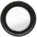 amazing nice adorable fantastic cool elegant sheffield home mirror with Distressed Black Circle Mirror made of wood