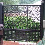 Attractive Cool Amazing Adorable Elegant Nice Classic Lattice Fence Design With Nice Black Metal Made Design With Nice Design For Small Back Yard Concept