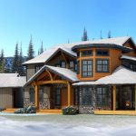 awesome cool amazing elgant nice rustic adorable craftsman style house with wooden made design and has snow field