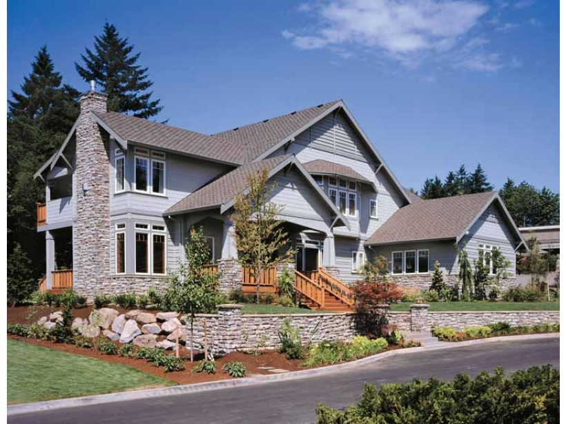 Awesome design of craftsman style house homesfeed for Amazing one story homes