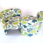 beautiful and colorful floral patterns tete-a tete sofa