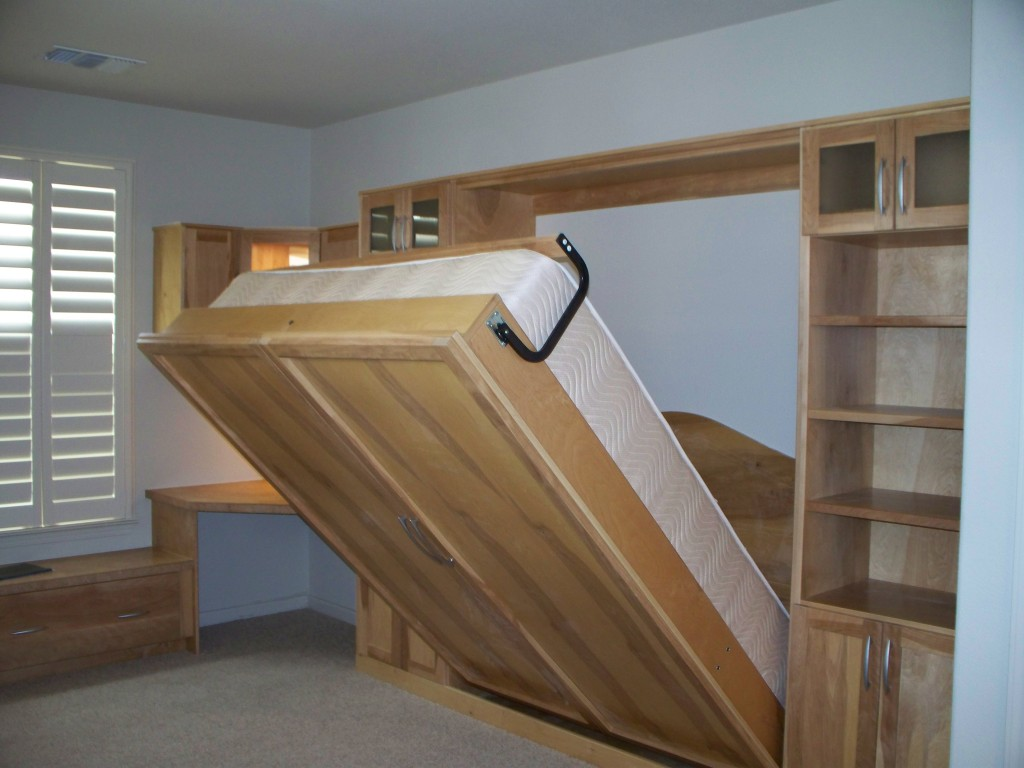 Fold Up Wall Bed: A Larger Room Maker - HomesFeed