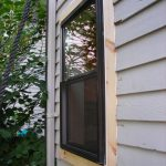 black elegant outside window trim for private home