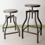 black metal barstools with round top