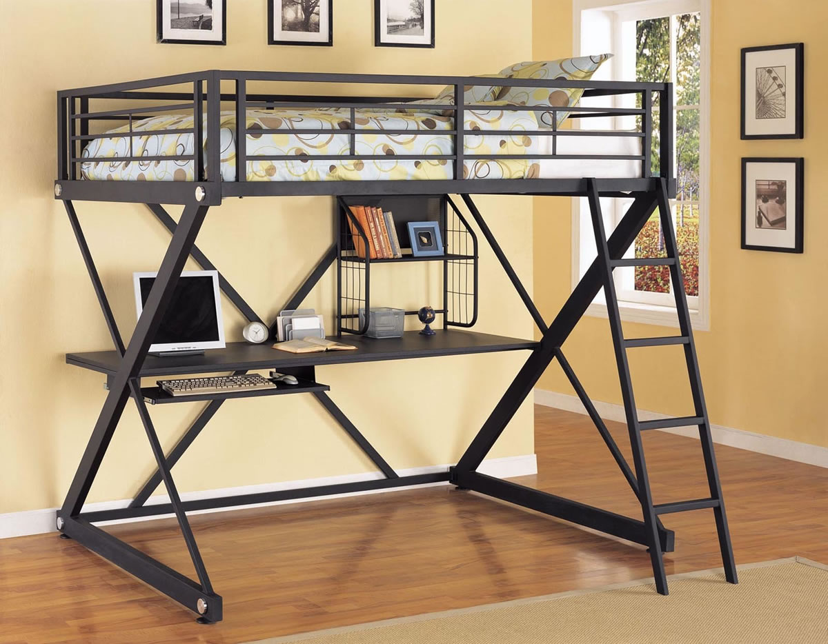 Adult Loft Bed With Desks A Solution To Optimize The