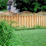 brushed-wood lattice fence system for garden