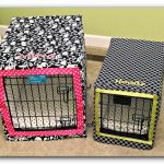 Cheerful Patterns And Color Dog Crates With Bedding