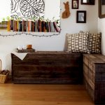 classic-adorable-nice-wonderful-cool-fantastic-corner-entryway-bench-with-large-wooden-made-concept-design-brown-accent-with-small-bookcase